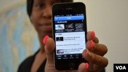 Aplikasi ponsel untuk berita-berita VOA.