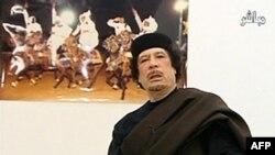 Libijski lider Moamer Gadafi tokom današnjeg obraćanja naciji preko državne televizije