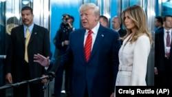 Predsednik SAD Donald Tramp i prva dama Melanija Tramp u sedištu Ujedinjenih nacija u Njujorku (Foto: AP/Craig Ruttle)