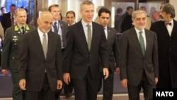 رهبران حکومت وحدت ملی افغانستان در اجلاس ناتو اشتراک می کنند