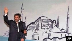 Serokê Îranê Mahmud Ahmedînejad, di hilcivîna aborî ya herêmî ya li Tirkîyê de xwanê dibe.