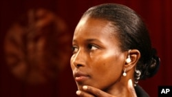 FILE - Somali-born Ayaan Hirsi Ali, pictured in 2006, was one of three women awarded the Lantos Human Rights Prize on Thursday in Washington.