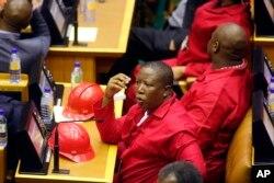 Julius Malema, le chef de file de l'EFF.