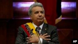 Lenín Moreno, presidente de Ecuador. La nación latinoamericana busca una forma de relacionarse con EE.UU. que sea más estable, según su canciller.