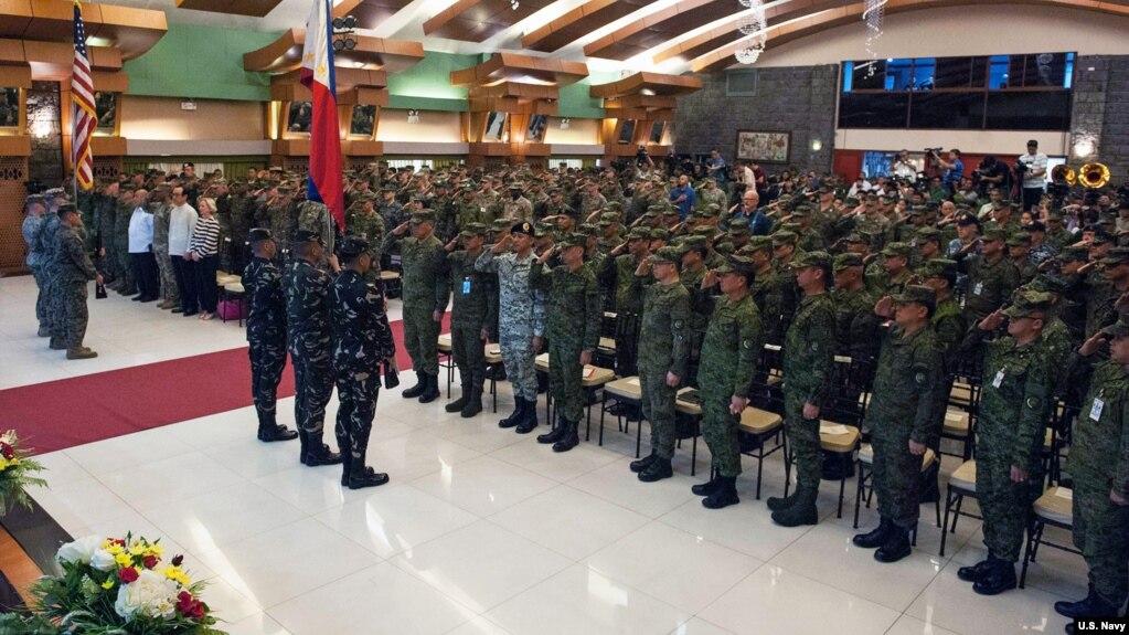 Mỹ và Philippines khai mạc tập trận chung, 7/5/2018