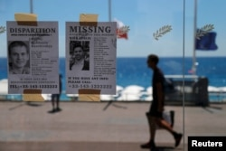 Missing persons leaflets are posted days after a truck attack on the Promenade des Anglais on Bastille Day that killed scores and injured as many in Nice, France, July 17, 2016.