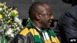 Le président sud-africain Cyril Ramaphosa à Johannesburg, le 31 juillet 2016.