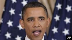 연설을 하는 오바마 미 대통령
