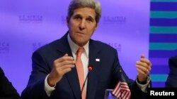 Sakataren Harkokin Wajen Amurka John Kerry da AGOA Forum ga 4 Agusta 2014.