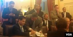 Marco Rubio es el creador del proyecto de ley.[Foto: Mitzi Macías, VOA].