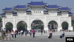位於台北的自由廣場(中正紀念堂)