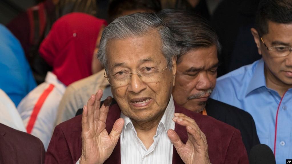 Ông Mahathir Mohamad tại một cuộc họp báo ở thủ đô Kuala Lumpur, Malaysia ngày 09/5/2018.