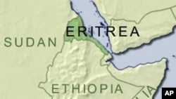 Map of Kenya and Eritrea