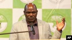 肯尼亚独立选举和边界委员会主席切布卡蒂在内罗毕对媒体讲话 (2017年10月29日)