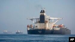 """Kapal supertanker Iran """"Grace 1"""" masih berada di pelabuhan Gibraltar setelah dibebaskan hari Kamis (15/8)."""