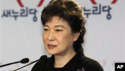 Bà Park Geun-hye, lãnh đạo đảng đương quyền Saenuri