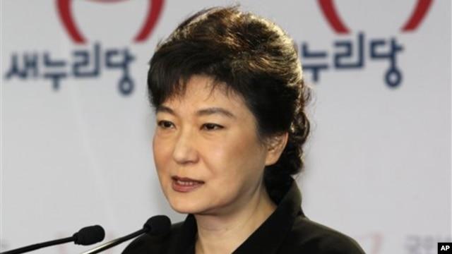 한국 새누리당의 박근혜 대통령 후보. (자료 사진)