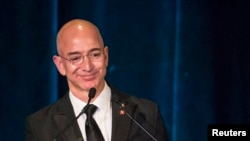 CEO dan pendiri Amazon.com Jeff Bezos, salah satu yang diundang dalam KTT Trump untuk para eksekutif papan atas sektor teknologi.