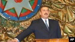 Ilham Aliev, à Baku en Azerbaidjan, le 31 octobre 2003.