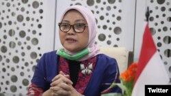 Menteri Ketenagakerjaan RI, Ida Fauziyah (Foto: Twitter/@idafauziah)