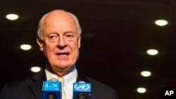스테판 드 미스투라 유엔 시리아 특사. (자료사진)