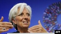 Кристин Лагард на совещании МВФ и Всемирного Банка. Вашингтон. 24 сентября 2011 г.