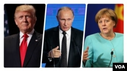 Putin Merkel Trump Forbes 2016