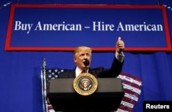 Prezident Tramp fikricha Amerika kompaniyalari avvalo amerikaliklarni ishga olishi shart