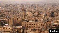 2009年叙利亚阿勒颇市俯瞰图 (资料照片)