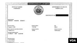 La presidencia de Estados Unidos difundió por primera vez la versión completa del certificado de nacimiento de Obama.