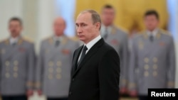 Russia's President Vladimir Putin at the Kremlin in Moscow, Nov. 19, 2013