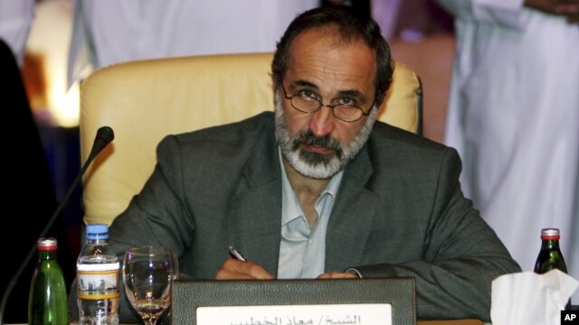 Cleric Ahmad al-Khatib was chosen in Doha, Qatar to lead newly united opposition against Syrian's president, Bashar al-Assad, November 11, 2012.