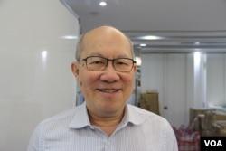 香港時事評論員林和立(美國之音申華拍攝)