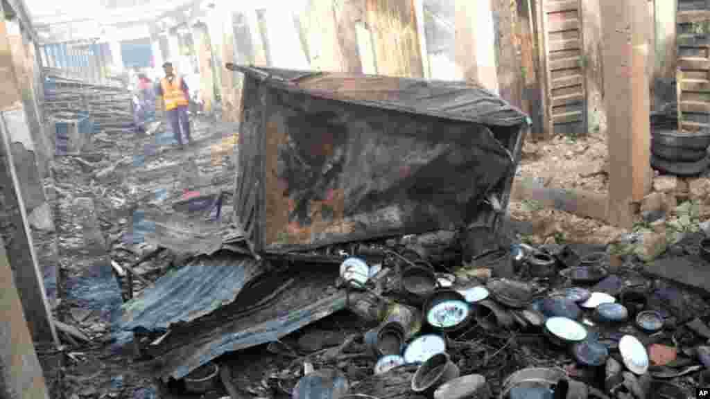Fashewar bom a kasuwar birnin Bauchi.