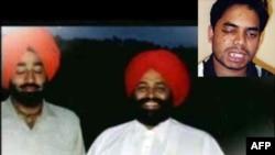 Öldürülen Hintli Vasudev Patel ile Pakistanlı Vakar Hasan. Kutu içindeki Reis Bhuiyan ise saldırıda bir gözünü kaybetti