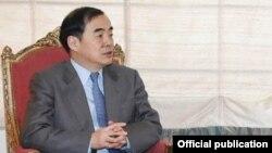 Le vice-ministre chinois Kong Xuanyou à Islamabad, le 21 novembre 2017.