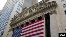 Bursa saham di New York yang dikenal sebagai 'Wall Street' (foto: dok).