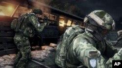 El videojuego a menudo emplea imágenes virtuales de figuras políticas de renombre.