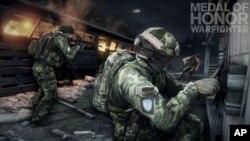"""Foto yang dirilis oleh Electronic Arts ini menunjukkan aksi video games """"Medal of Honor: Warfighter."""" (Foto: dok). Tujuh anggota tim elit SEAL Angkatan Laut AS telah ditertibkan karena dianggap telah membocorkan informasi rahasia saat menjadi konsultan dalam pembuatan video games ini (8/11)."""