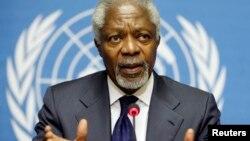 ကုလသမဂၢ အတြင္းေရးမွဴးခ်ဳပ္ေဟာင္း Kofi Annan။