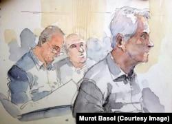 Musa Kart (önde), Ahmet Şık ve Akın Atalay (arkada)