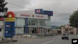 ხაშურის პოლიციის შენობა, სადაც ქიმერიძე დაიღუპა