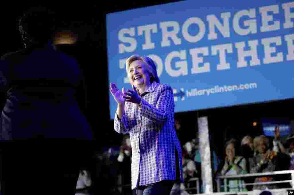 فلاڈیلفیا میں منعقد ہونے والے ڈیموکریٹک پارٹی کے کنونشن کے دوران ہونے والی ووٹنگ کے نتیجے میں ہیلری کلنٹن نے 2842 ووٹ حاصل کیے۔