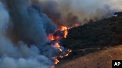美國加利福尼亞州北部的野火持續蔓延