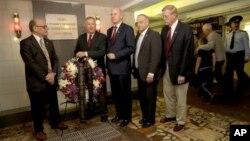 Конгрессмены Стив Коэн, Дана Рорабахер, Уильям Китинг, Стив Кинг и Пол Кук. Москва. 29 мая 2013 г.