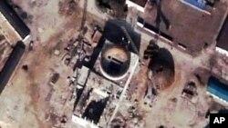 지난해 11월 촬영된 북한 경수로의 위성사진.