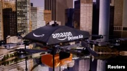 An Amazon Prime Air Flying Drone