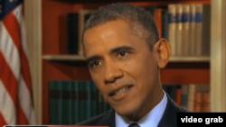 奥巴马总统星期天接受电视采访