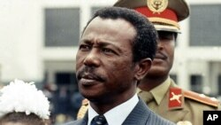 L'ancien président éthiopien Mengistu Haile Mariam, à Abbis Addas le 9 août 1990.