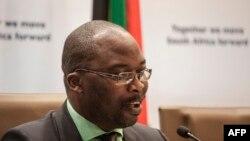 Le ministre sud-africain de la Justice Michael Masutha, 21 octobre 2016.